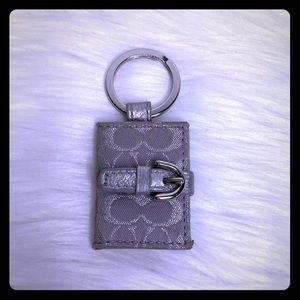 Coach Signature Silver Picture Frame Keychain